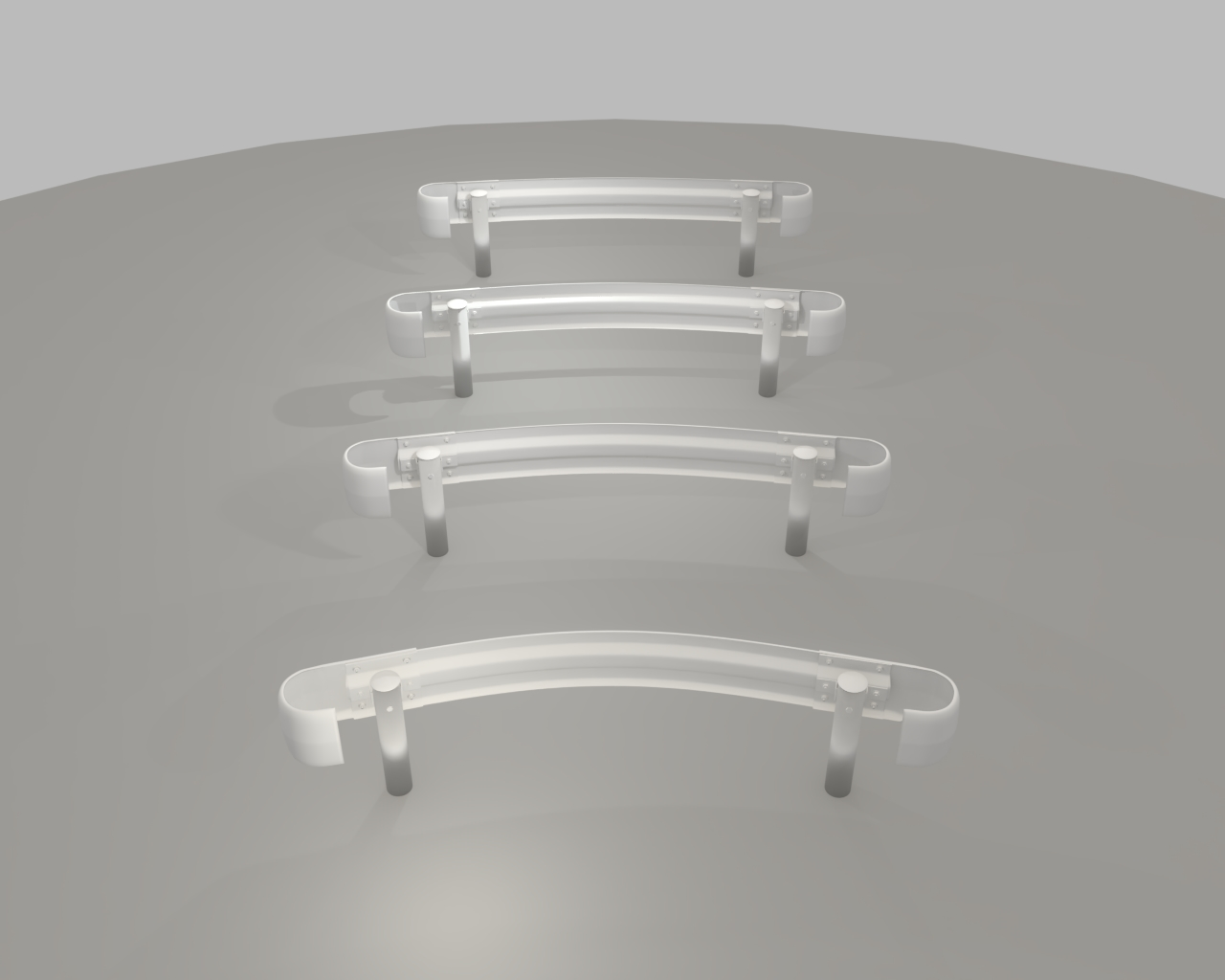 guardrail curved in japan 3d model dxf fbx obj 282237