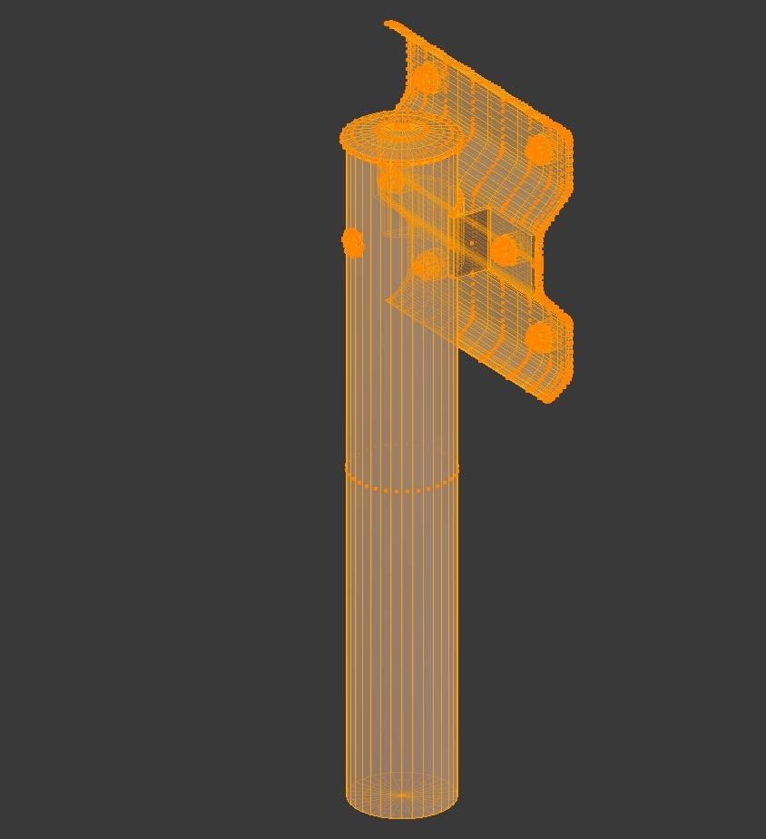 guardrail boginn í Japan 3d líkan dxf fbx obj 282241