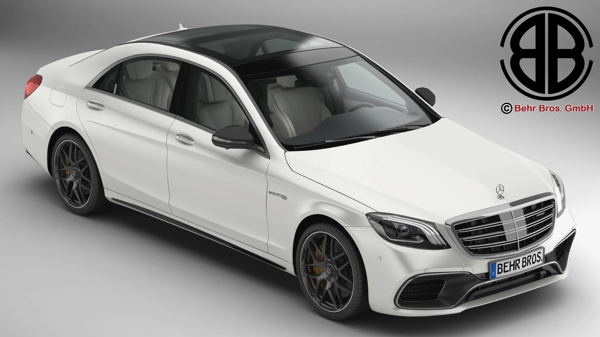 Mercedes S Class AMG S63 2018 3d model 3ds max fbx c4d lwo lws lw ma mb obj 282256