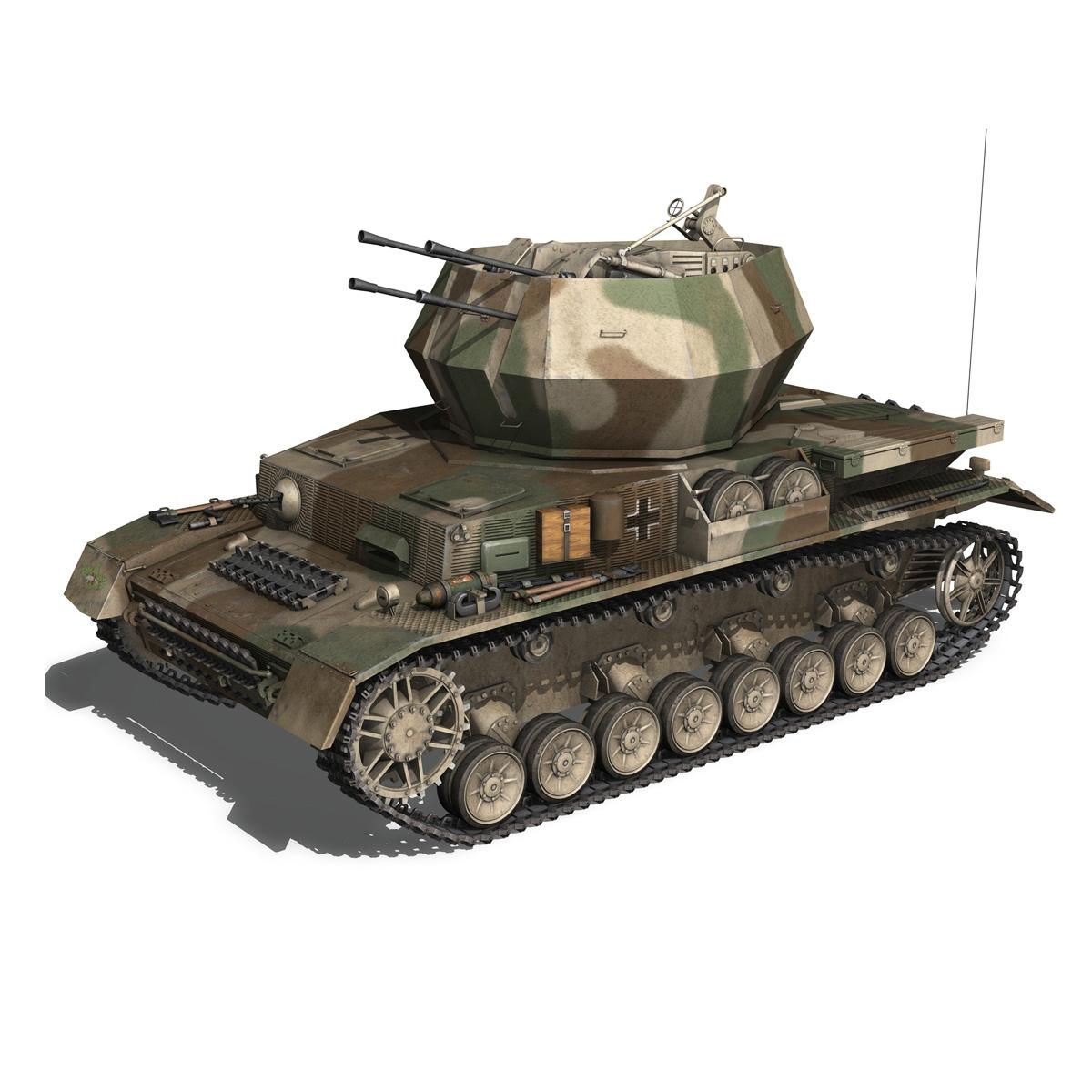 flakpanzer iv – wirbelwind – spzjgabt 654 3d model 3ds fbx c4d lwo obj 282305