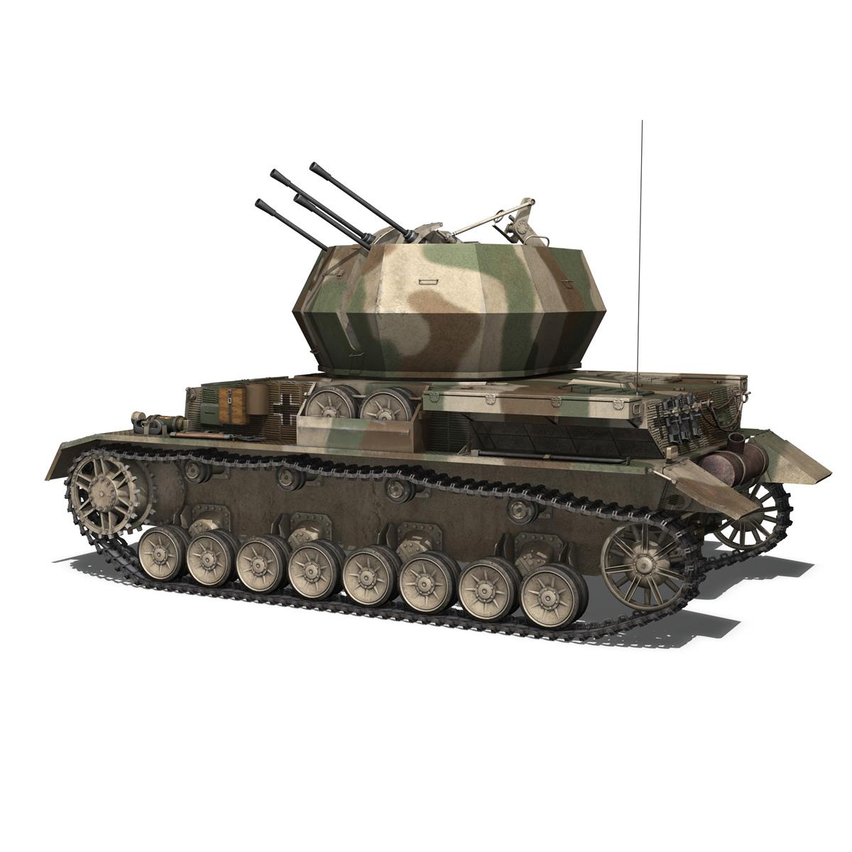 flakpanzer iv – wirbelwind – spzjgabt 654 3d model 3ds fbx c4d lwo obj 282306