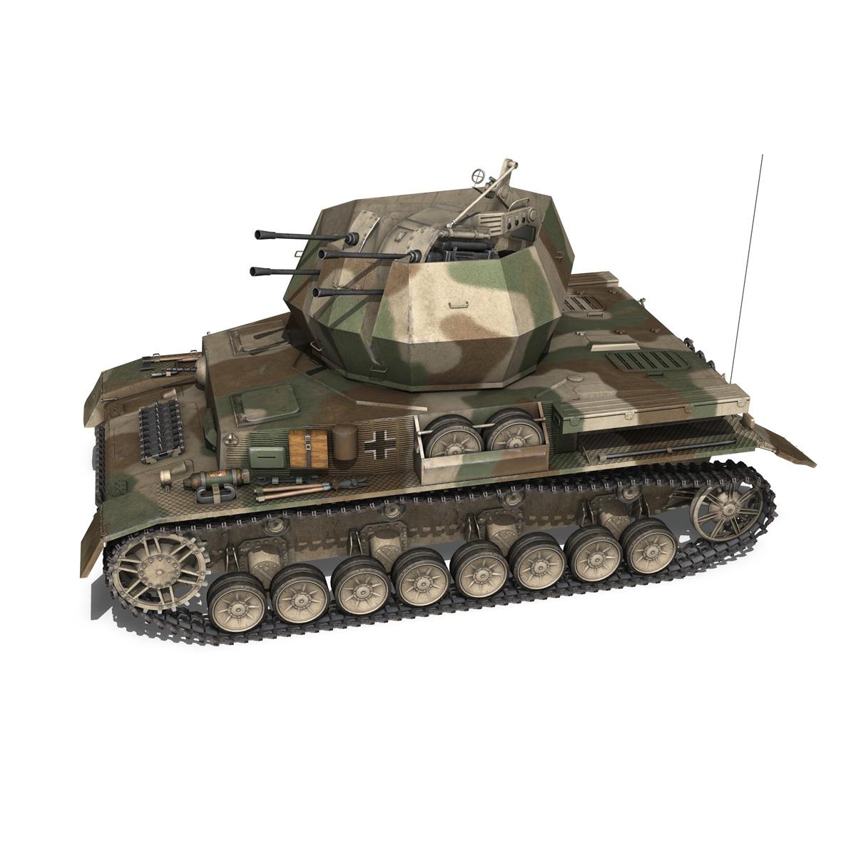 flakpanzer iv – wirbelwind – spzjgabt 654 3d model 3ds fbx c4d lwo obj 282307