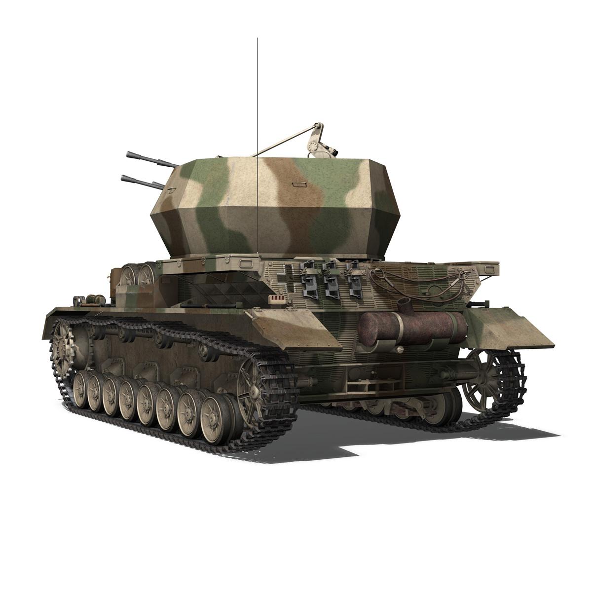 flakpanzer iv – wirbelwind – spzjgabt 654 3d model 3ds fbx c4d lwo obj 282308