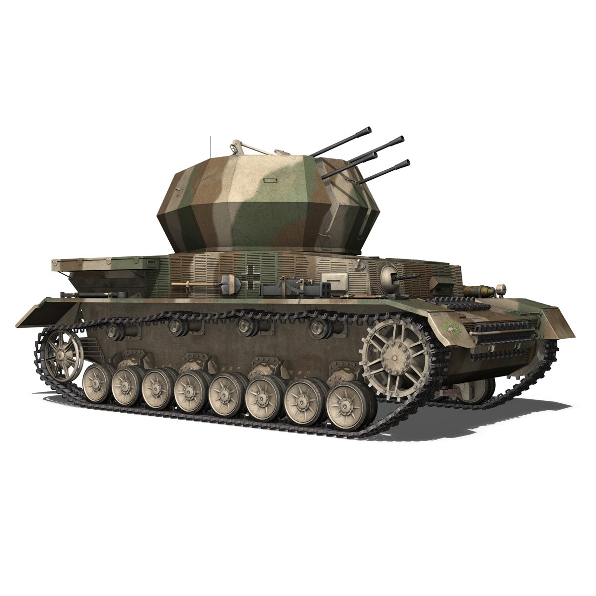 flakpanzer iv – wirbelwind – spzjgabt 654 3d model 3ds fbx c4d lwo obj 282310