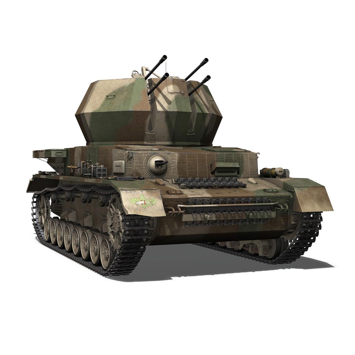 flakpanzer iv – wirbelwind – spzjgabt 654 3d model 3ds fbx c4d lwo obj 282311
