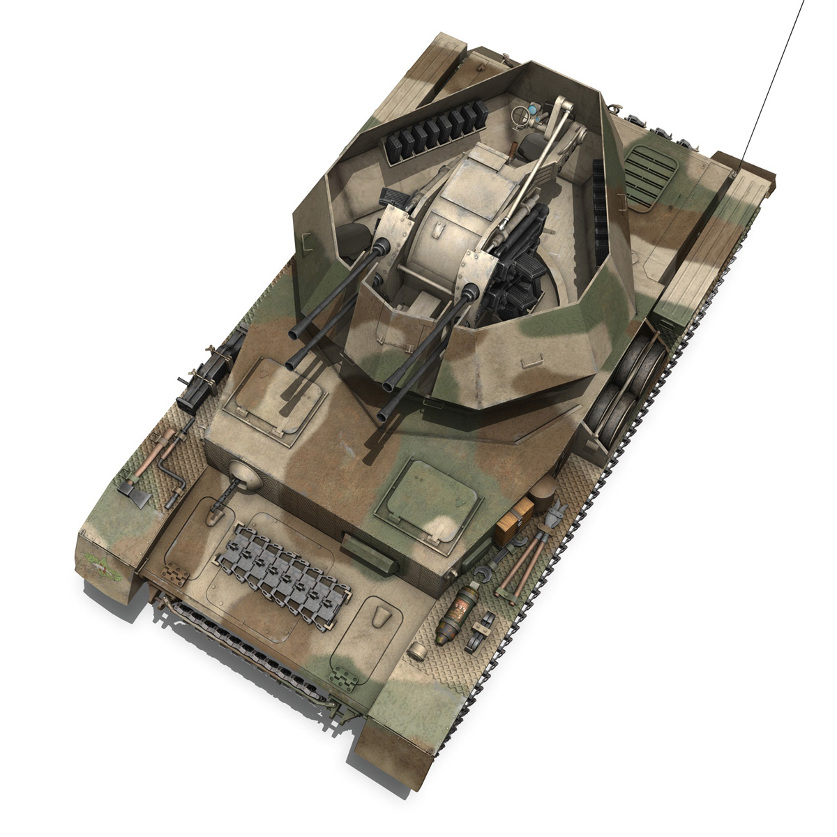 flakpanzer iv – wirbelwind – spzjgabt 654 3d model 3ds fbx c4d lwo obj 282313