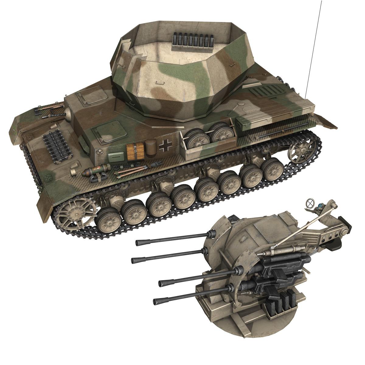 flakpanzer iv – wirbelwind – spzjgabt 654 3d model 3ds fbx c4d lwo obj 282314