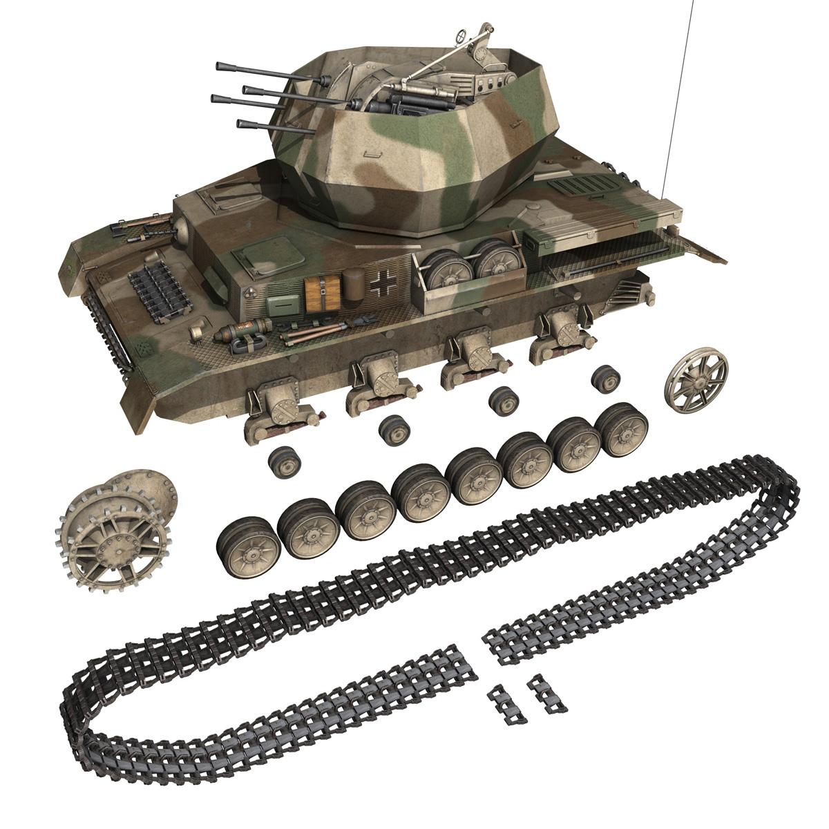flakpanzer iv – wirbelwind – spzjgabt 654 3d model 3ds fbx c4d lwo obj 282315