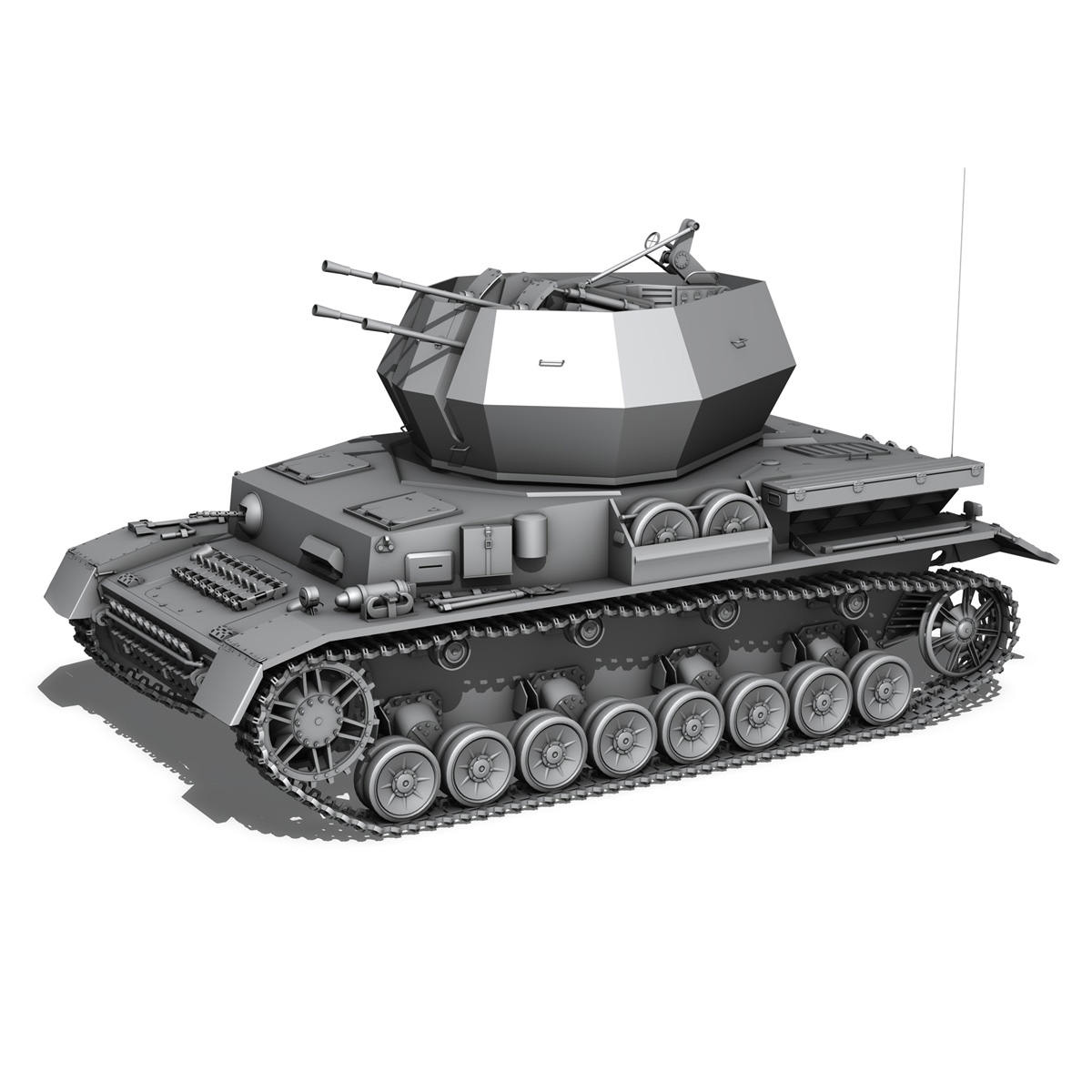 flakpanzer iv – wirbelwind – spzjgabt 654 3d model 3ds fbx c4d lwo obj 282316