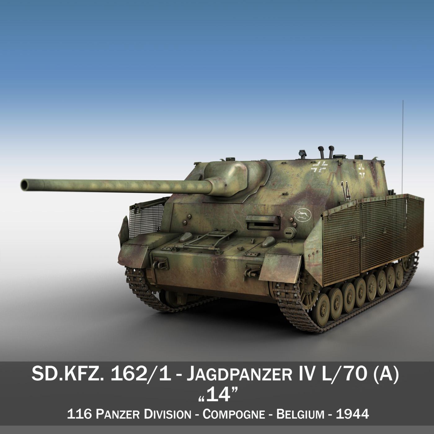 jagdpanzer iv l / 70 (a) - 14 3d model 3ds fbx c4d lwo obj 282327