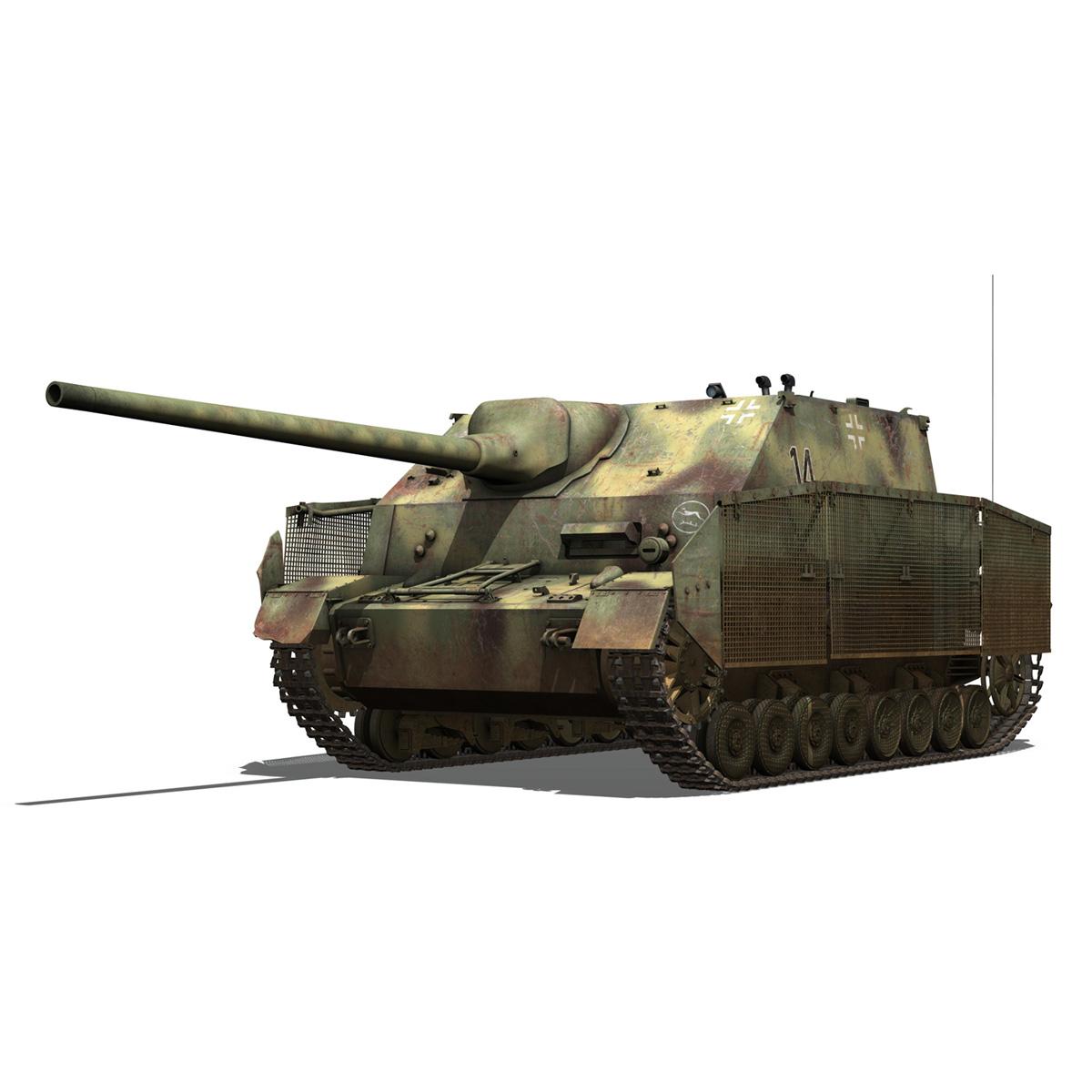 jagdpanzer iv l/70 (a) – 14 3d model 3ds fbx c4d lwo obj 282328