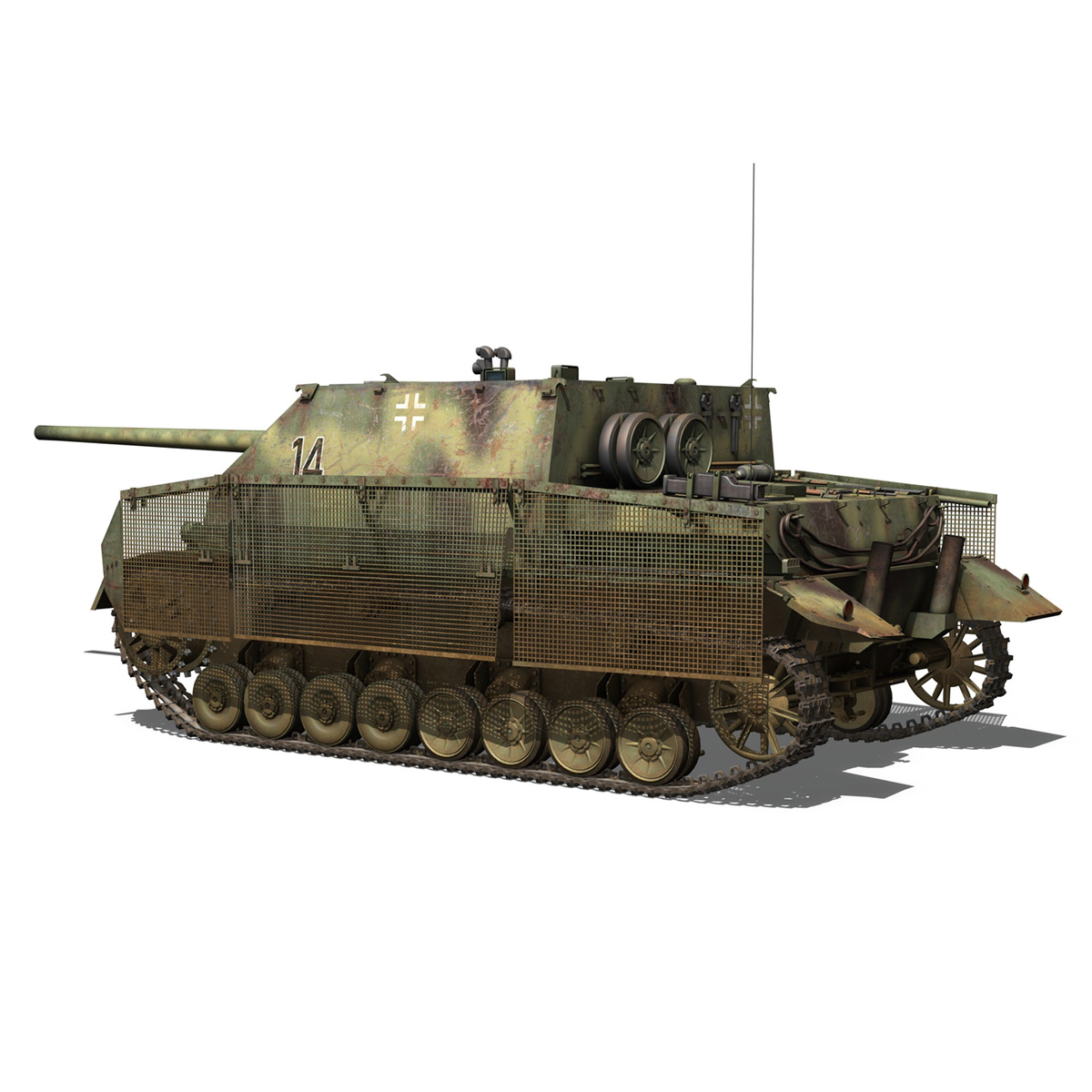 jagdpanzer iv l/70 (a) – 14 3d model 3ds fbx c4d lwo obj 282330
