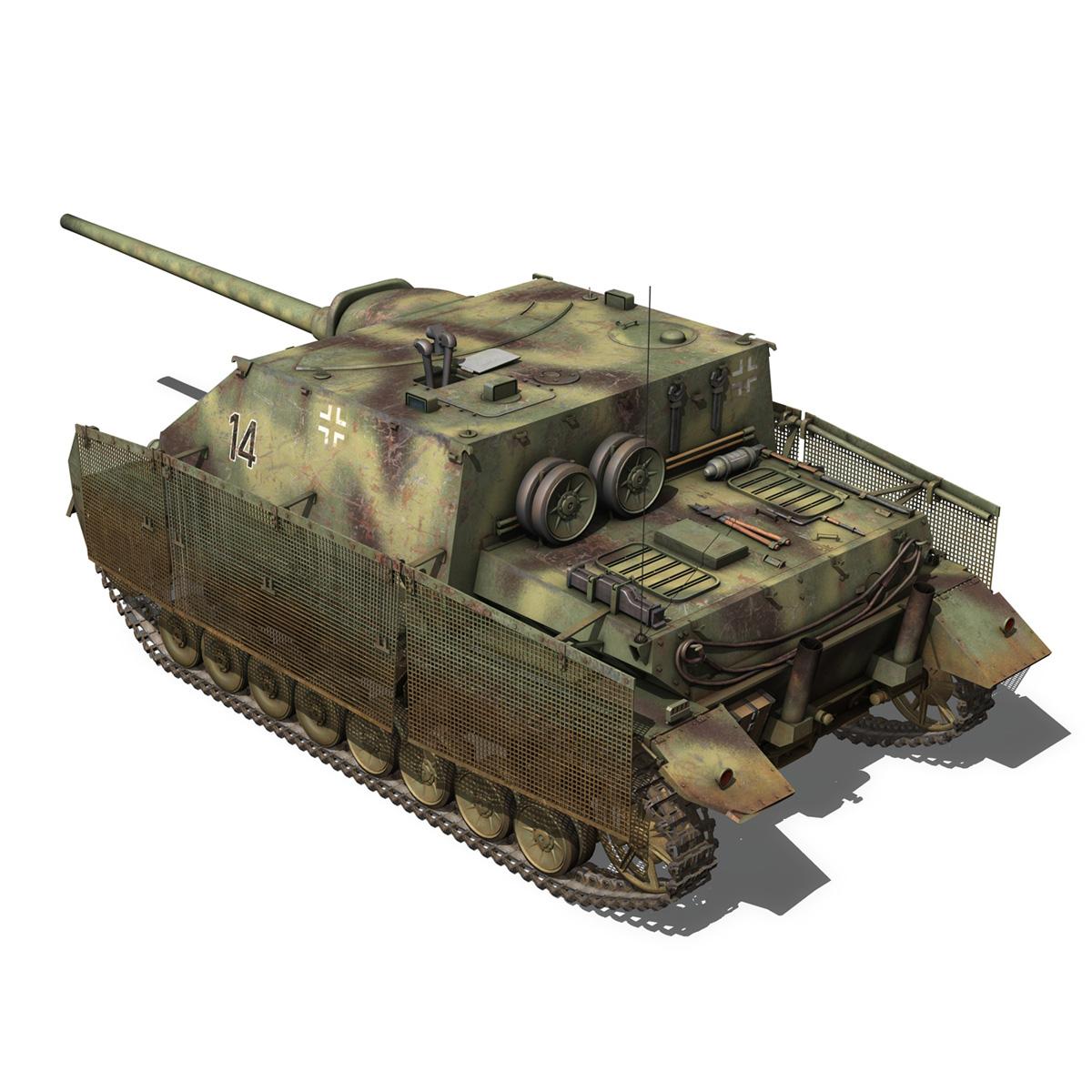 jagdpanzer iv l/70 (a) – 14 3d model 3ds fbx c4d lwo obj 282331