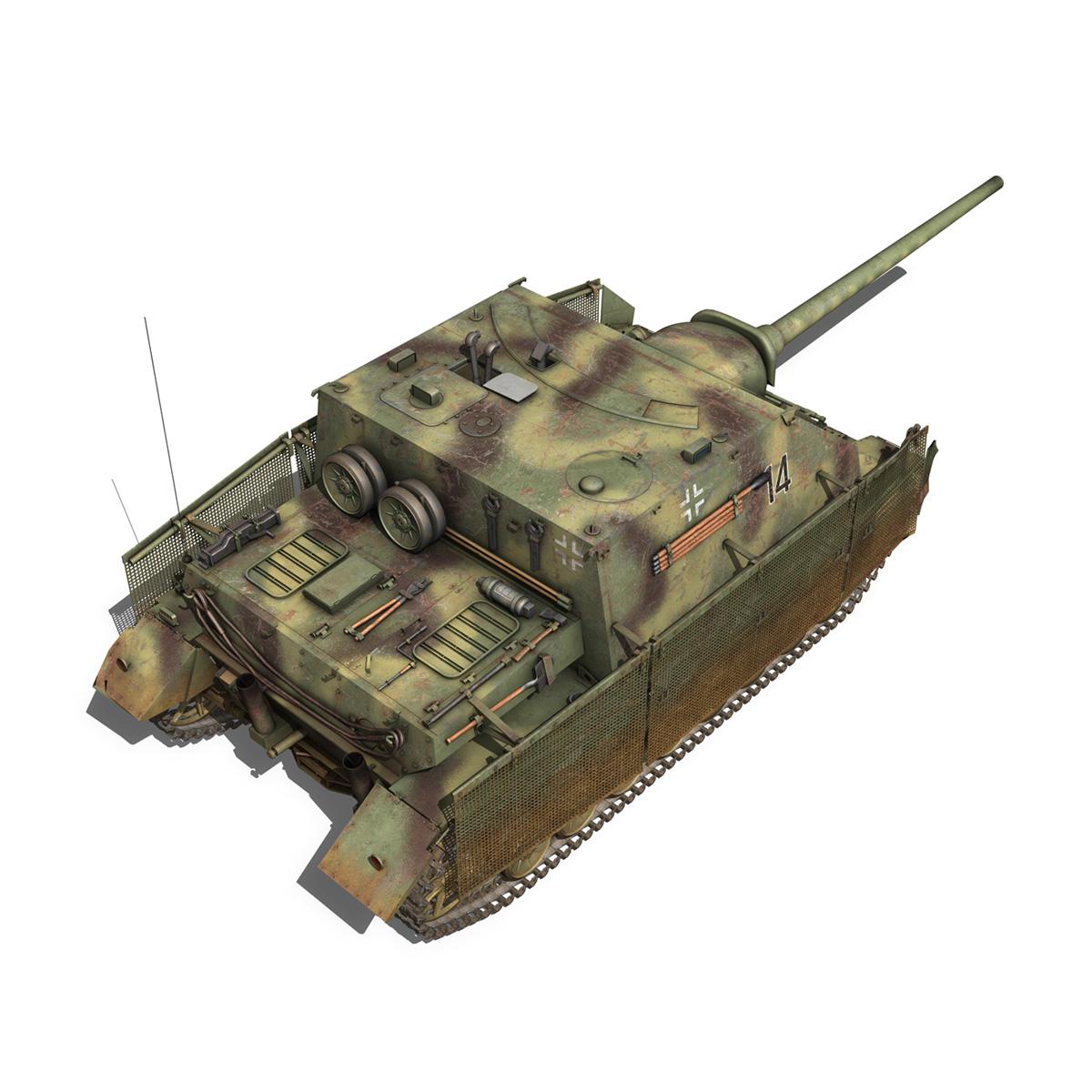 jagdpanzer iv l/70 (a) – 14 3d model 3ds fbx c4d lwo obj 282333