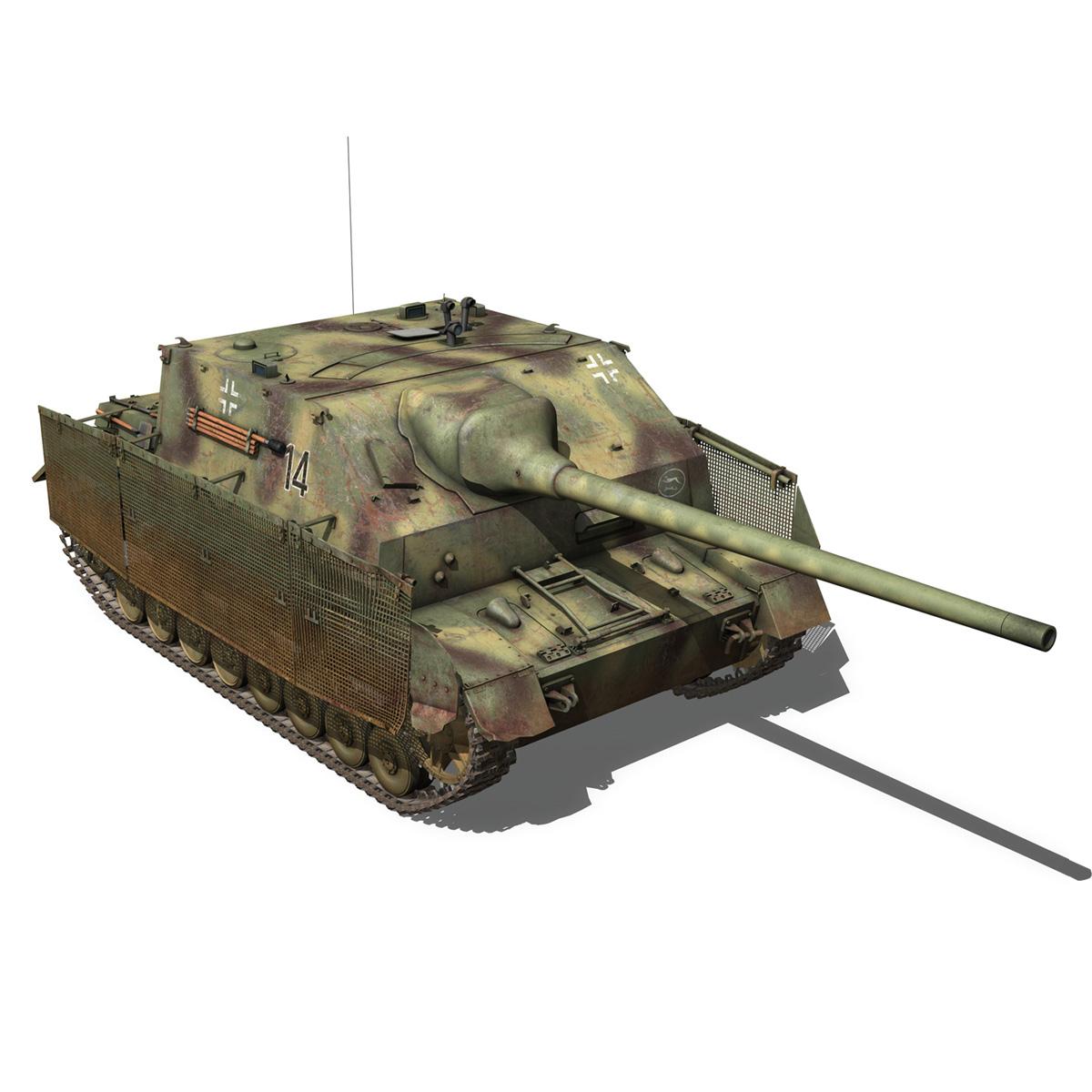 jagdpanzer iv l/70 (a) – 14 3d model 3ds fbx c4d lwo obj 282334
