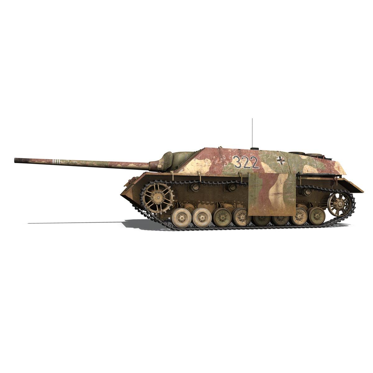 jagdpanzer iv l/70 (v) – 322 – late production 3d model 3ds fbx c4d lwo obj 282348