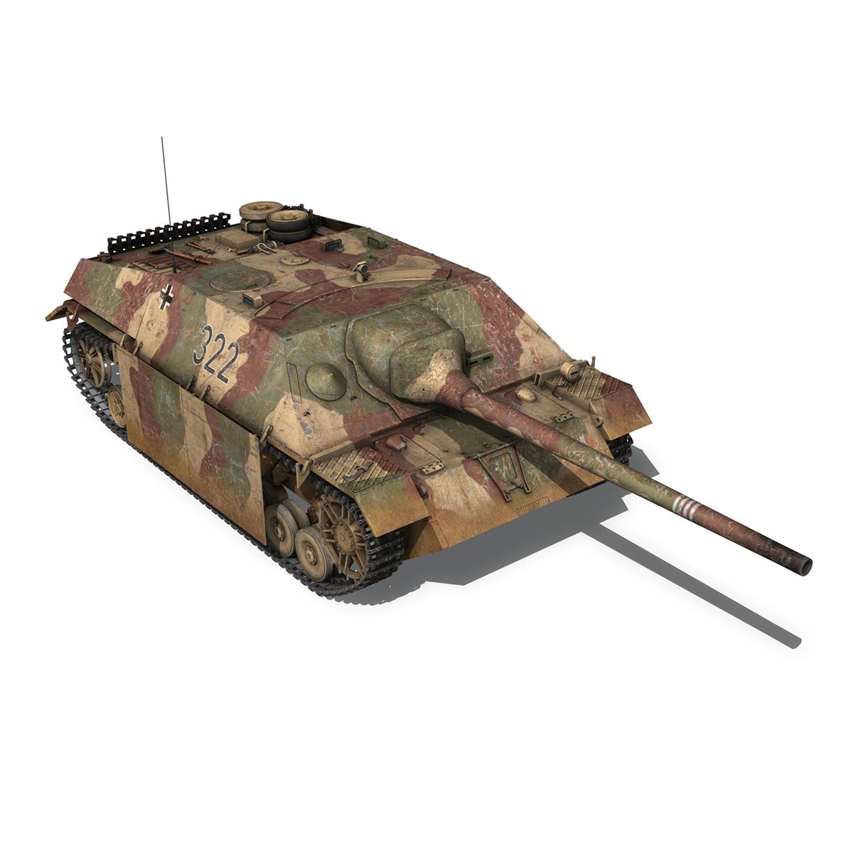 jagdpanzer iv l/70 (v) – 322 – late production 3d model 3ds fbx c4d lwo obj 282352