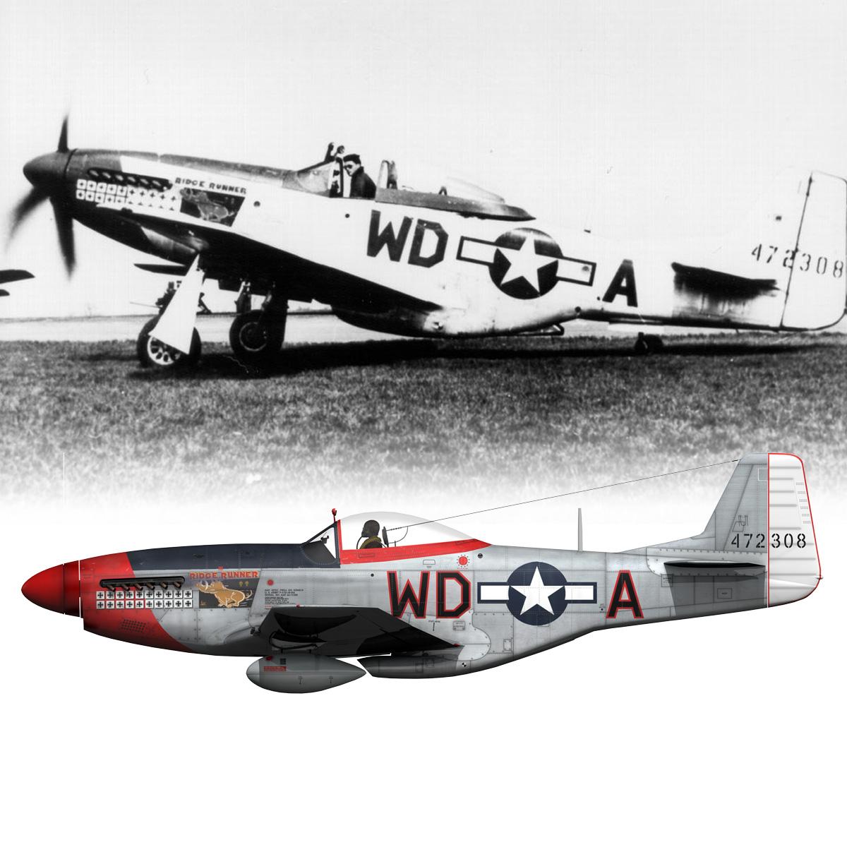north american p-51d – ridge runner iii 3d model fbx c4d lwo obj 282365
