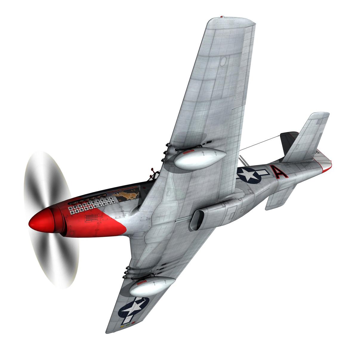 north american p-51d – ridge runner iii 3d model fbx c4d lwo obj 282366