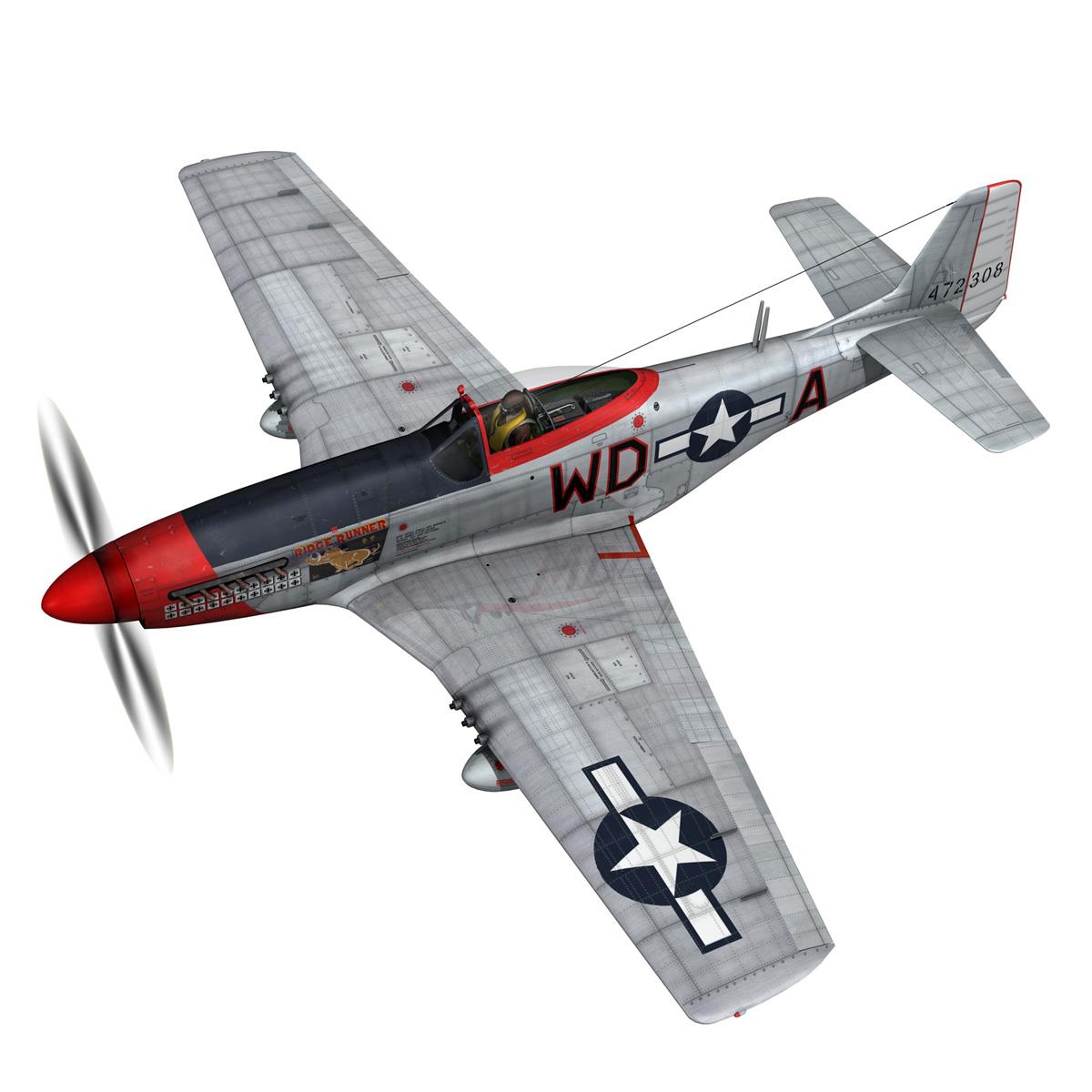 north american p-51d – ridge runner iii 3d model fbx c4d lwo obj 282367