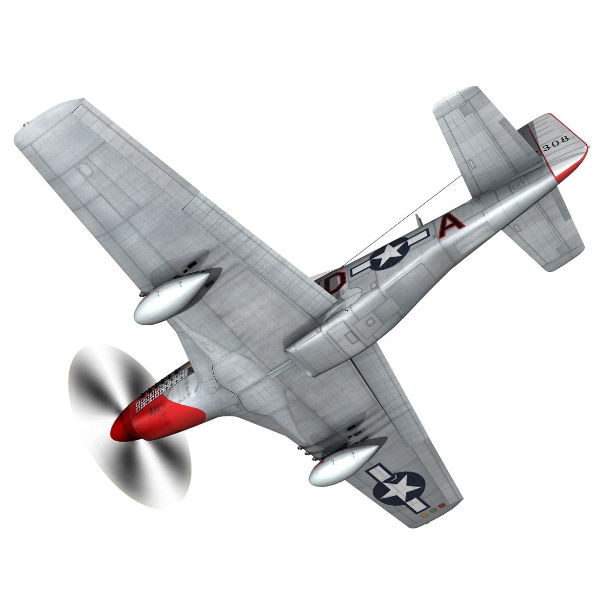 north american p-51d – ridge runner iii 3d model fbx c4d lwo obj 282369