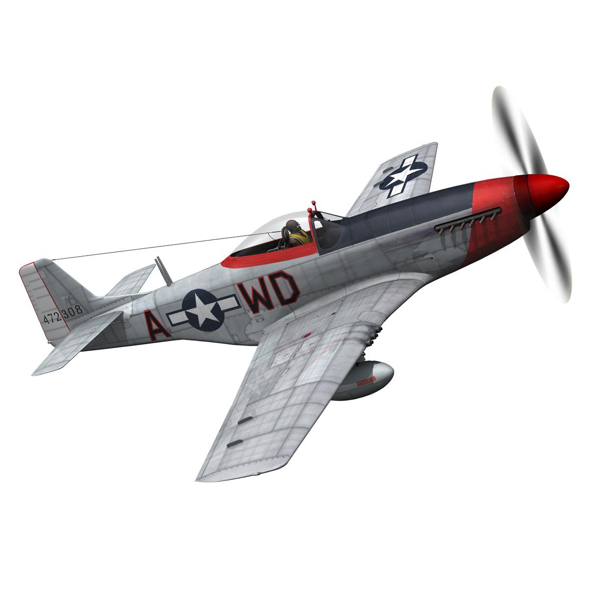 north american p-51d – ridge runner iii 3d model fbx c4d lwo obj 282371