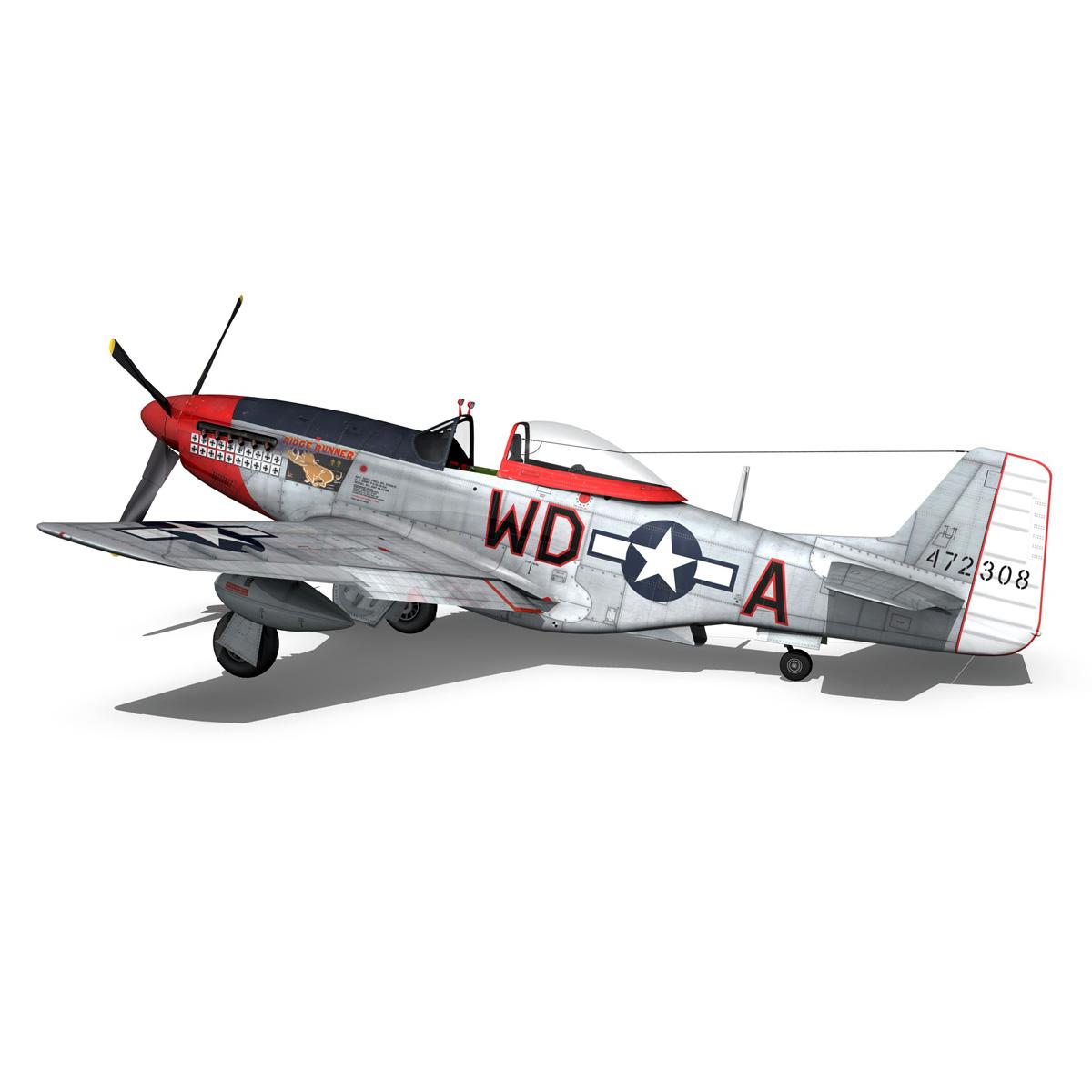 north american p-51d – ridge runner iii 3d model fbx c4d lwo obj 282374