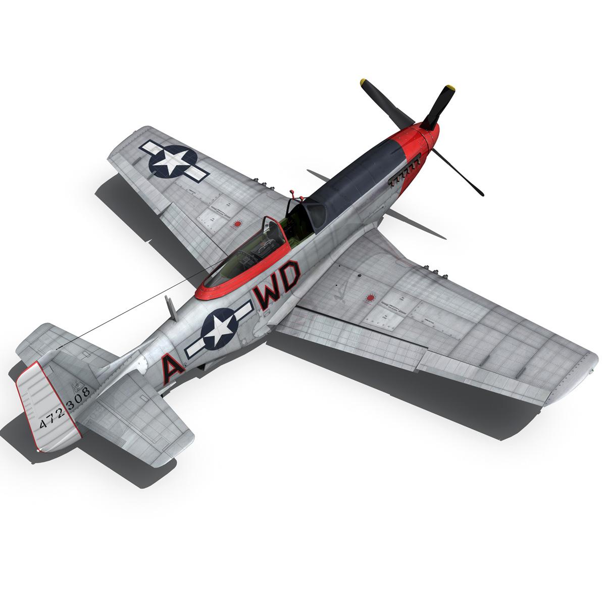 north american p-51d – ridge runner iii 3d model fbx c4d lwo obj 282376