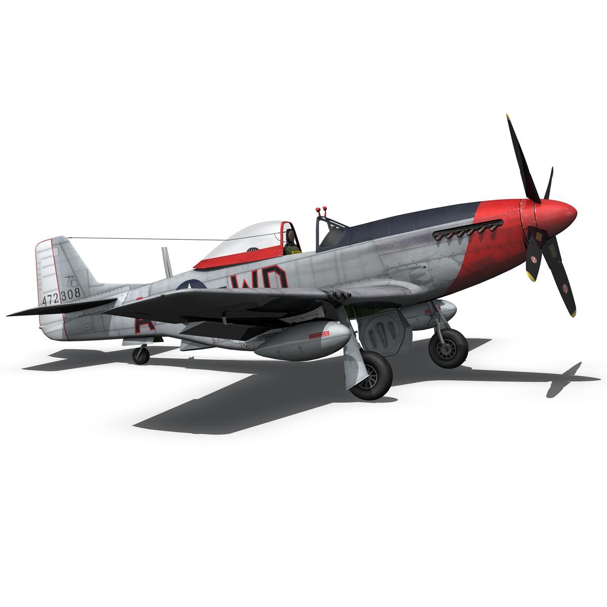 north american p-51d – ridge runner iii 3d model fbx c4d lwo obj 282377