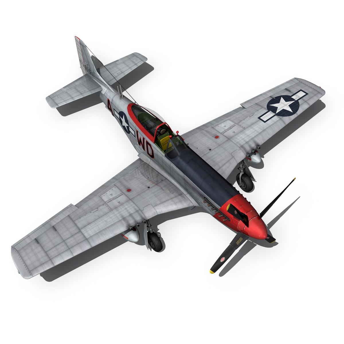 north american p-51d – ridge runner iii 3d model fbx c4d lwo obj 282378