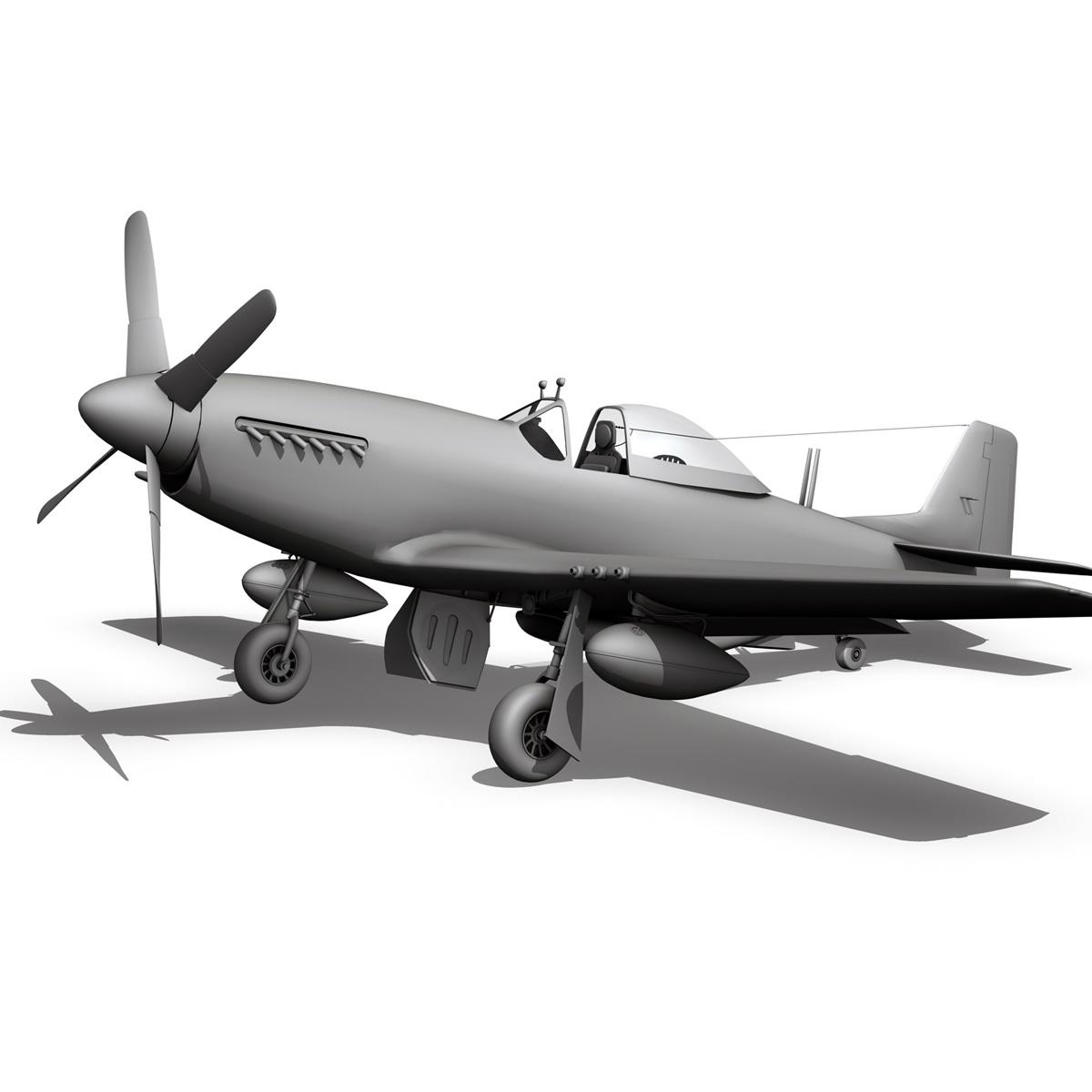 north american p-51d – ridge runner iii 3d model fbx c4d lwo obj 282381