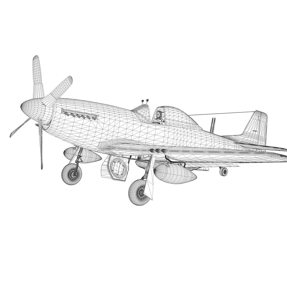 north american p-51d – ridge runner iii 3d model fbx c4d lwo obj 282382