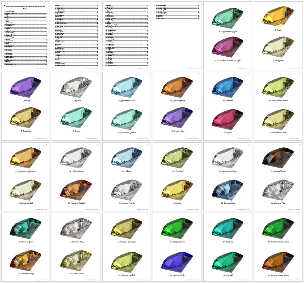 gemstone materials ultimate for v-ray and 3ds max 3d model max png 282422