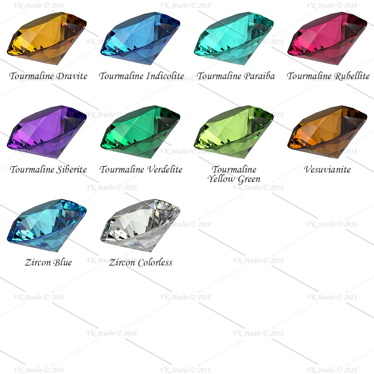 gemstone materials ultimate for v-ray and 3ds max 3d model max png 282434