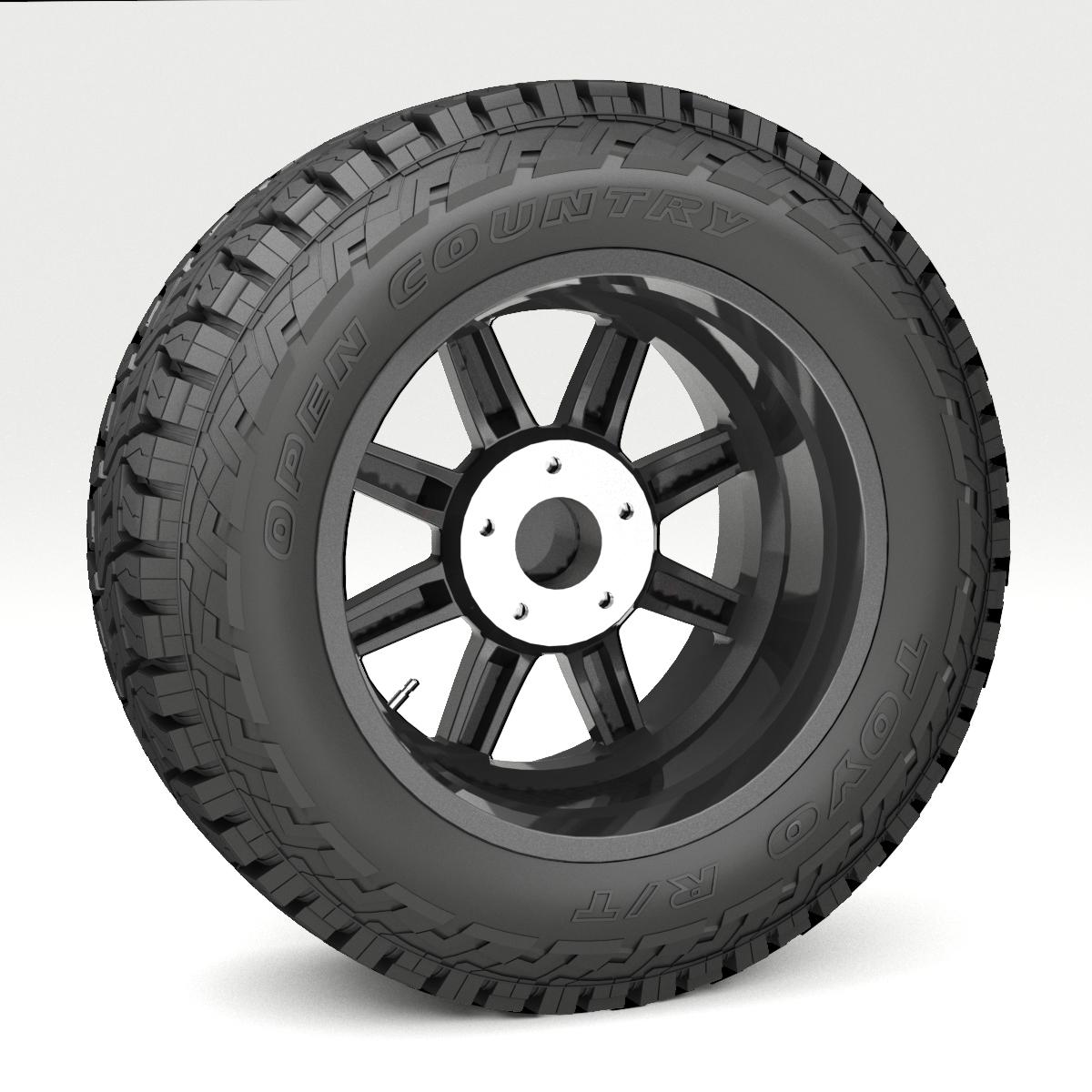 off road wheel and tire 7 3d model 3ds max fbx tga targa icb vda vst pix obj 282487