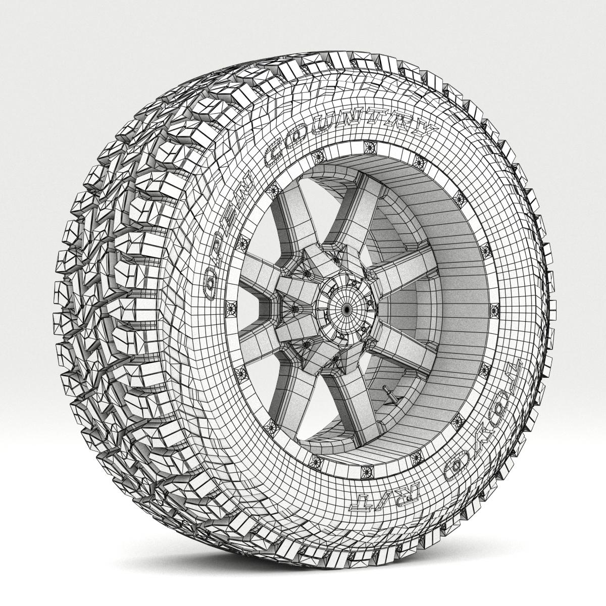 off road wheel and tire 7 3d model 3ds max fbx tga targa icb vda vst pix obj 282491
