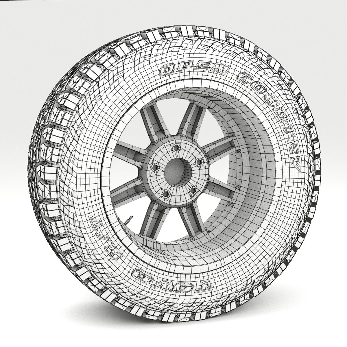 off road wheel and tire 7 3d model 3ds max fbx tga targa icb vda vst pix obj 282494