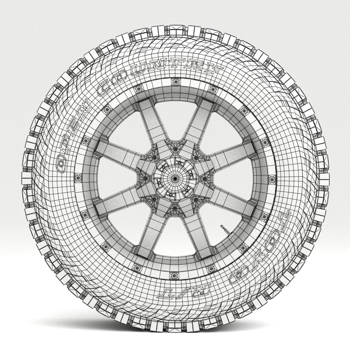 off road wheel and tire 7 3d model 3ds max fbx tga targa icb vda vst pix obj 282495