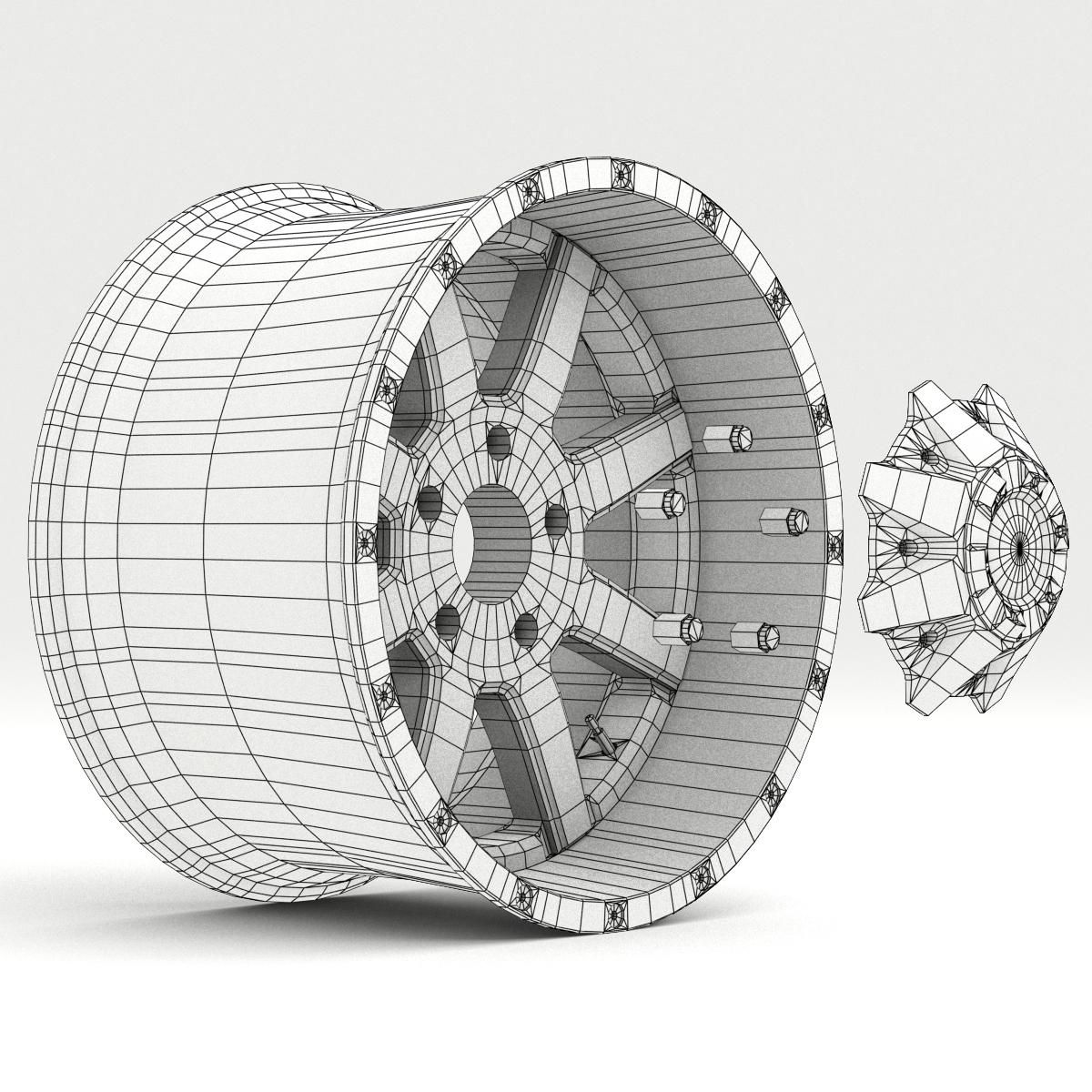 off road wheel and tire 7 3d model 3ds max fbx tga targa icb vda vst pix obj 282496