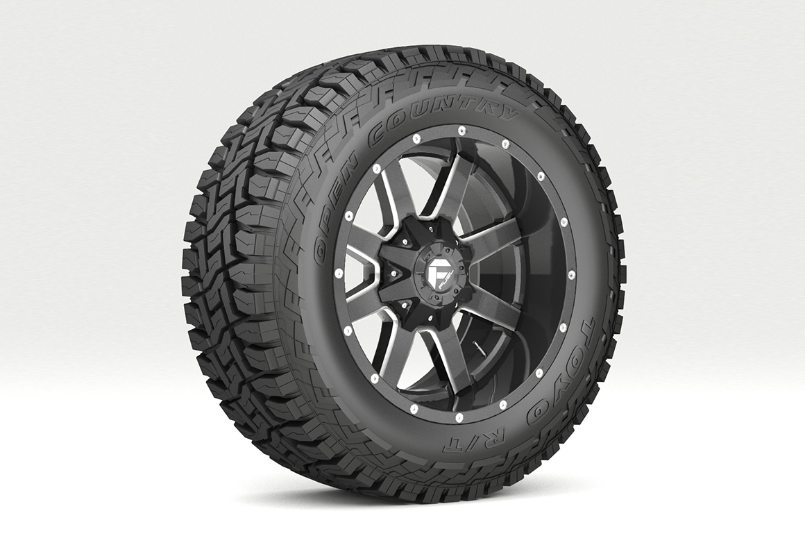 off road wheel and tire 7 3d model 3ds max fbx tga targa icb vda vst pix obj 282499