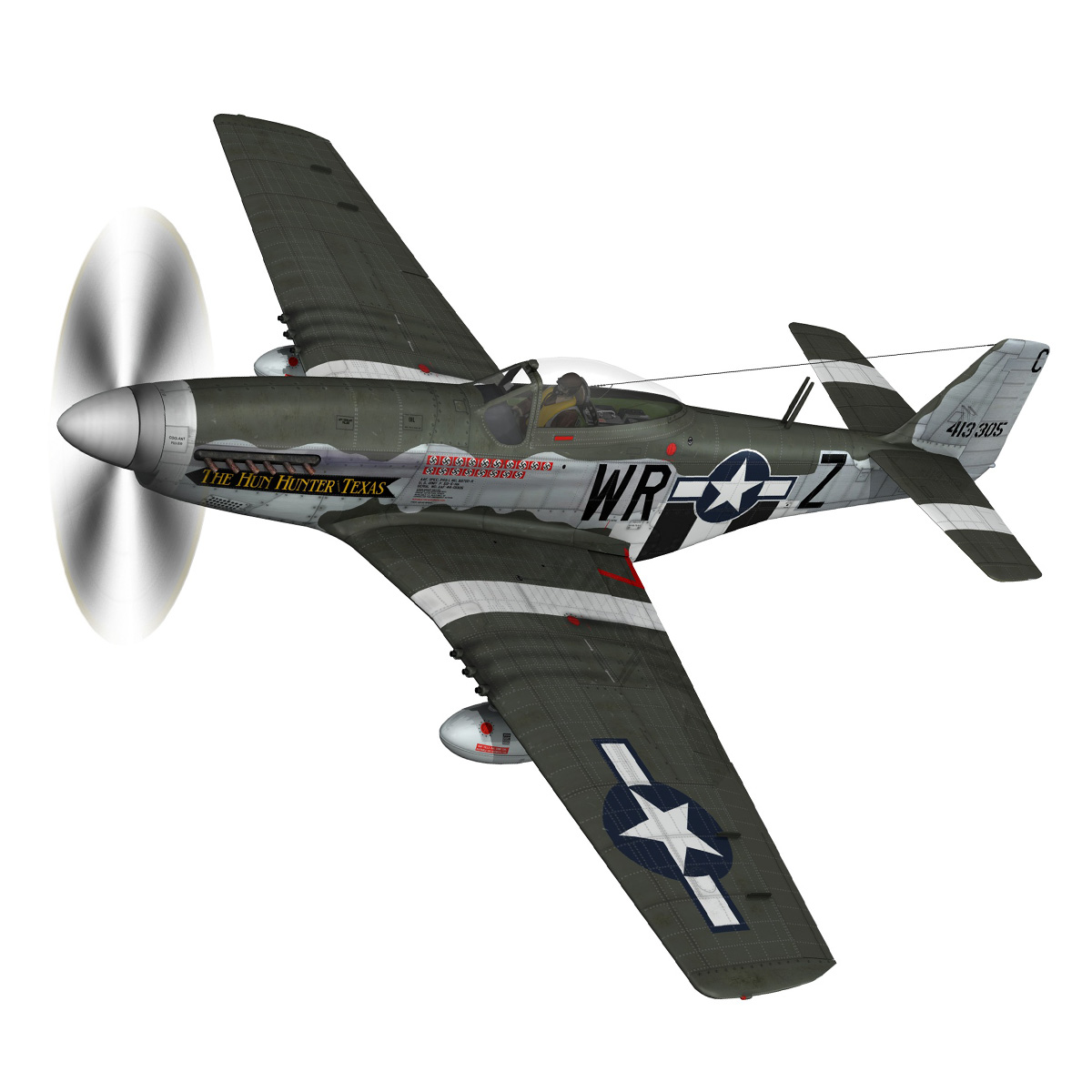 north american p-51d – the hun hunter / texas 3d model fbx c4d lwo obj 282528