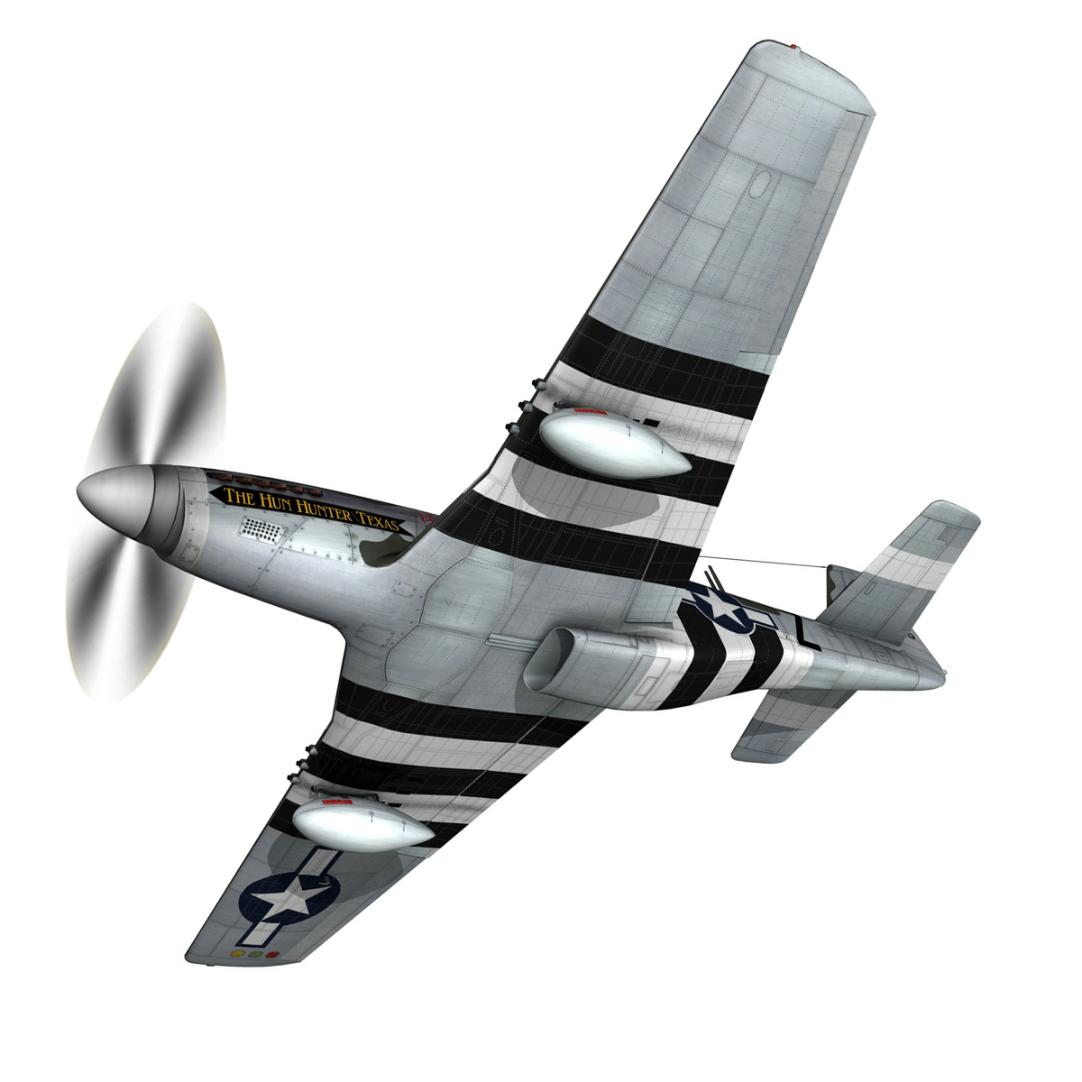 north american p-51d – the hun hunter / texas 3d model fbx c4d lwo obj 282529