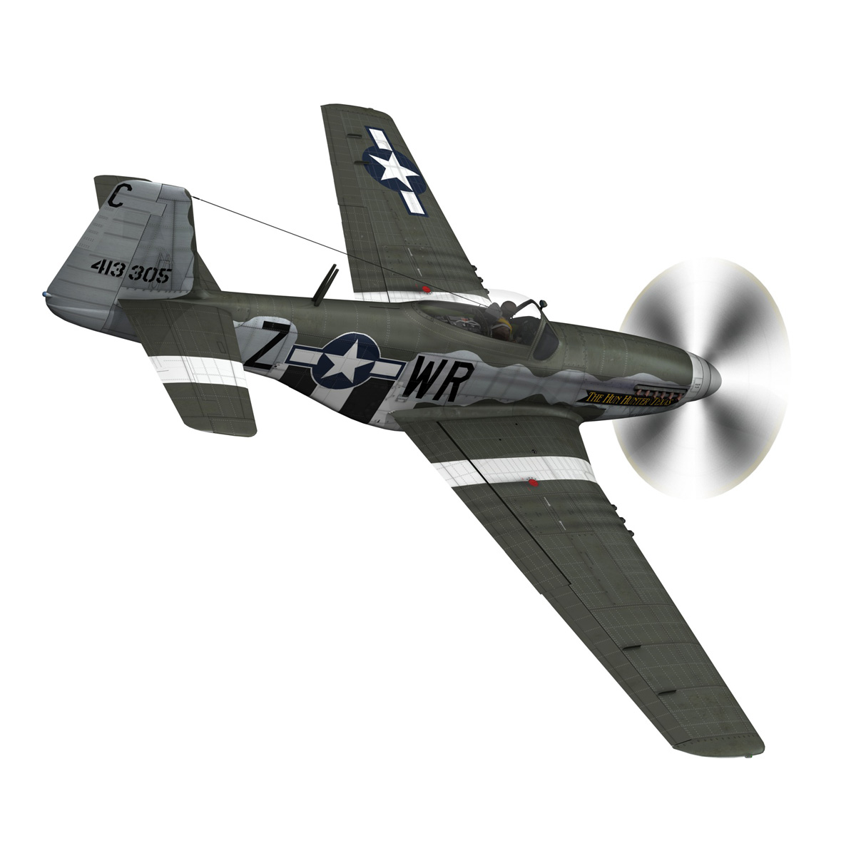 north american p-51d – the hun hunter / texas 3d model fbx c4d lwo obj 282532