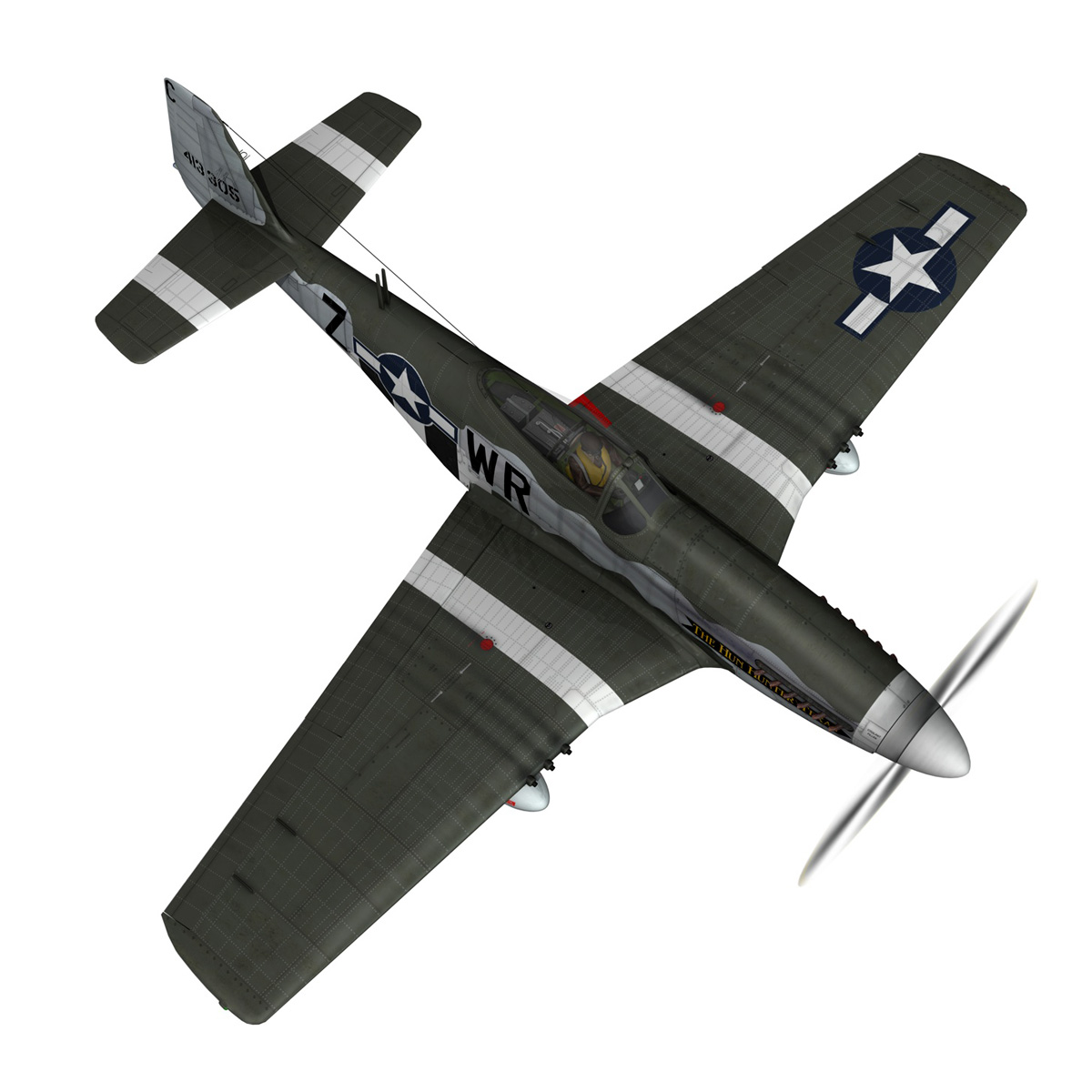 north american p-51d – the hun hunter / texas 3d model fbx c4d lwo obj 282535