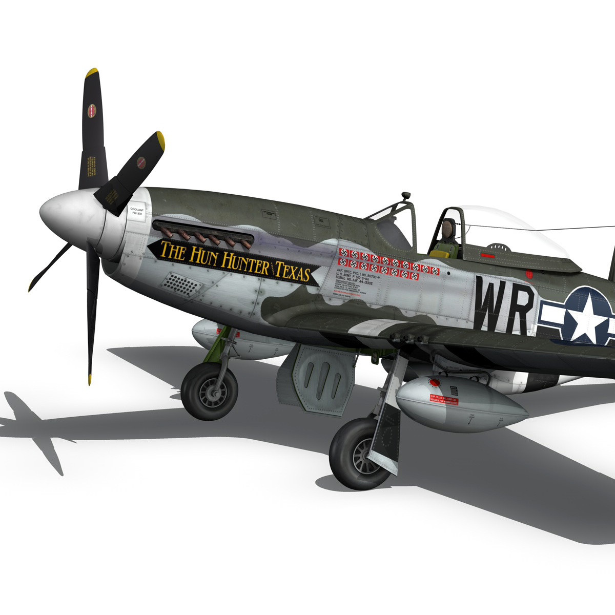 north american p-51d – the hun hunter / texas 3d model fbx c4d lwo obj 282536