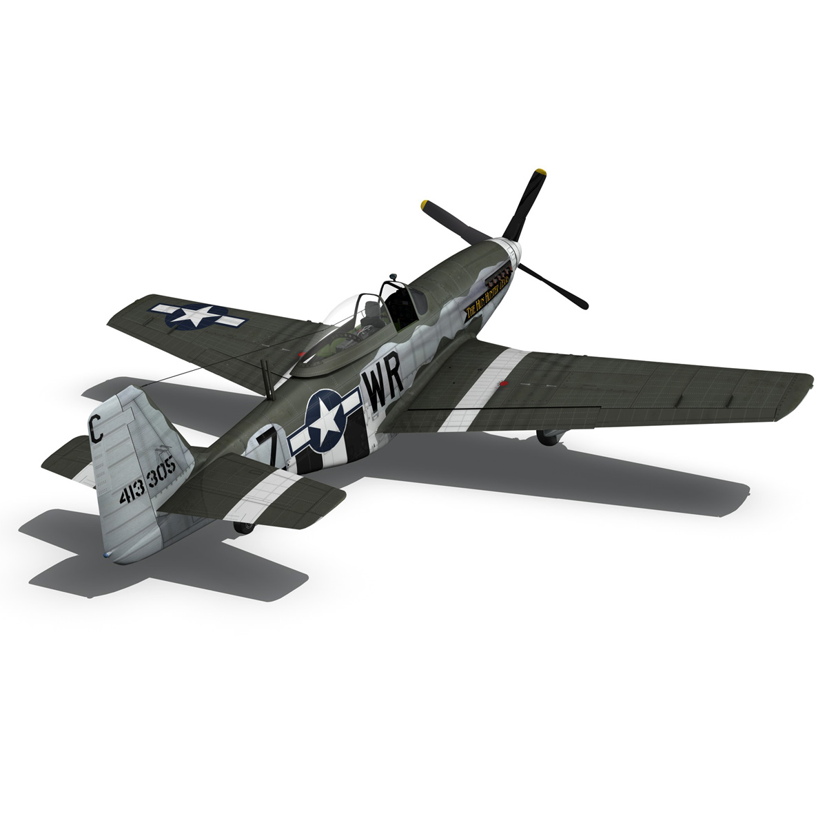 north american p-51d – the hun hunter / texas 3d model fbx c4d lwo obj 282540