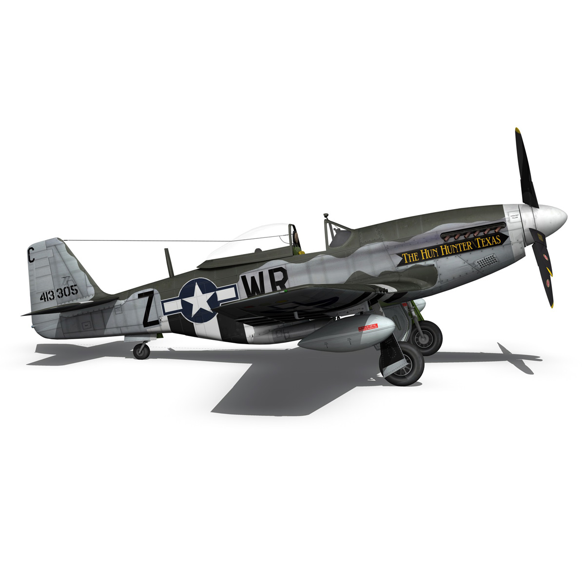 north american p-51d – the hun hunter / texas 3d model fbx c4d lwo obj 282541