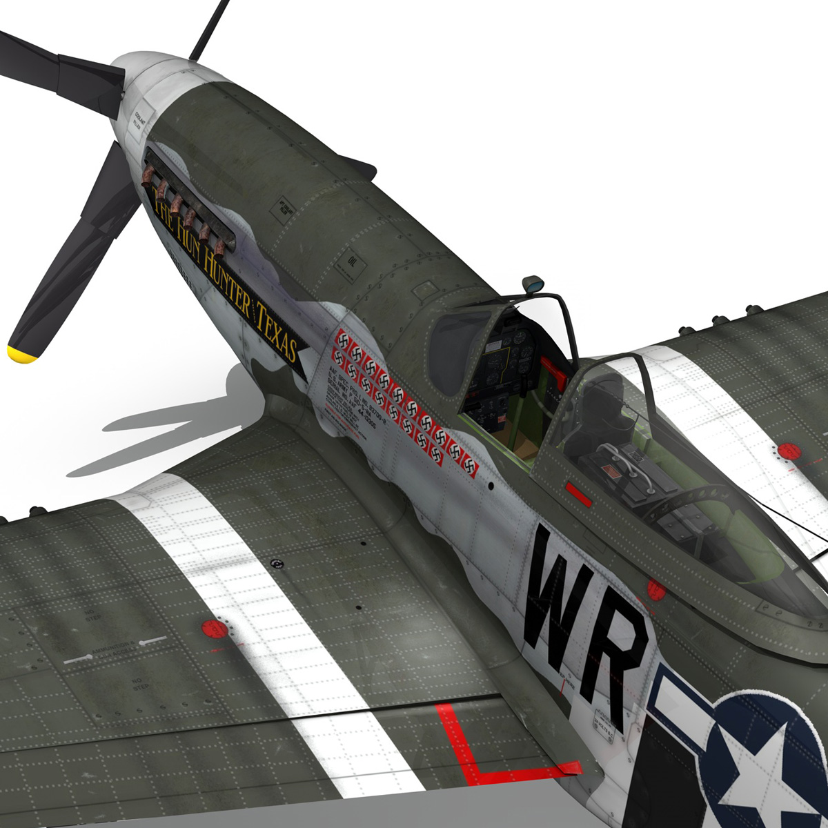 north american p-51d – the hun hunter / texas 3d model fbx c4d lwo obj 282543