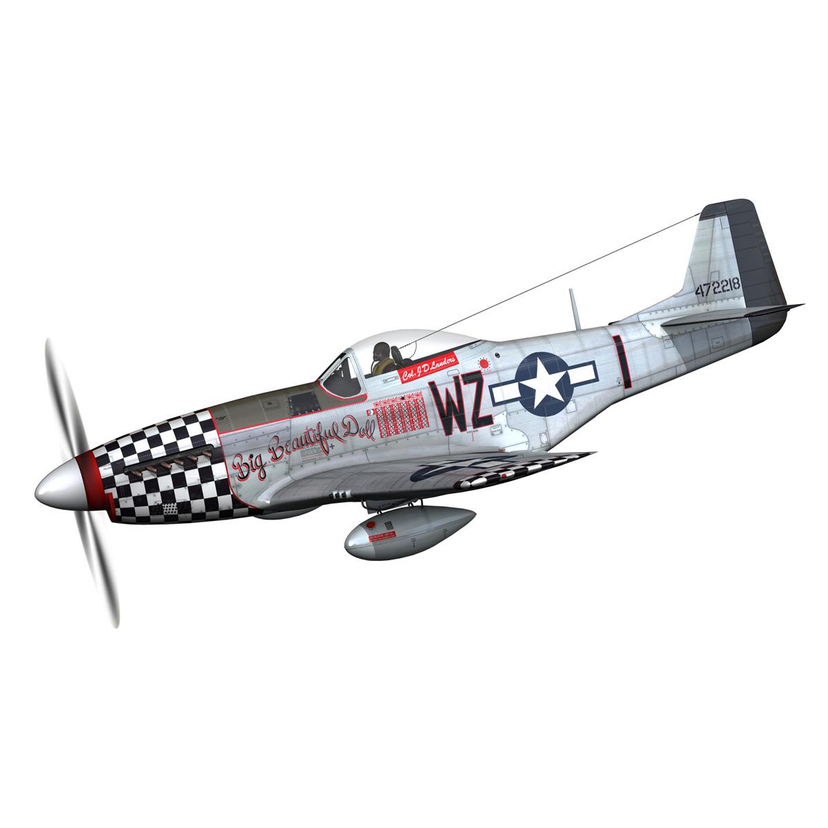 north american p-51d mustang – big beautiful doll 3d model fbx c4d lwo obj 282553
