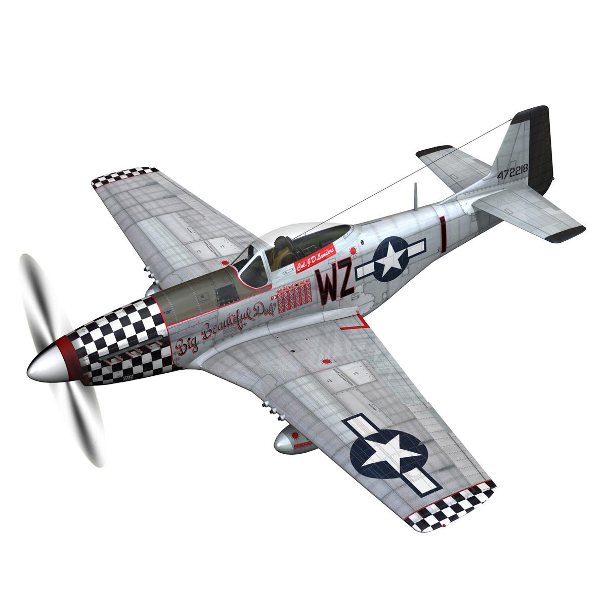 north american p-51d mustang – big beautiful doll 3d model fbx c4d lwo obj 282554
